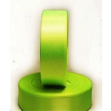 Атласная лента цвет лимонно-салатовый неон, 25 мм