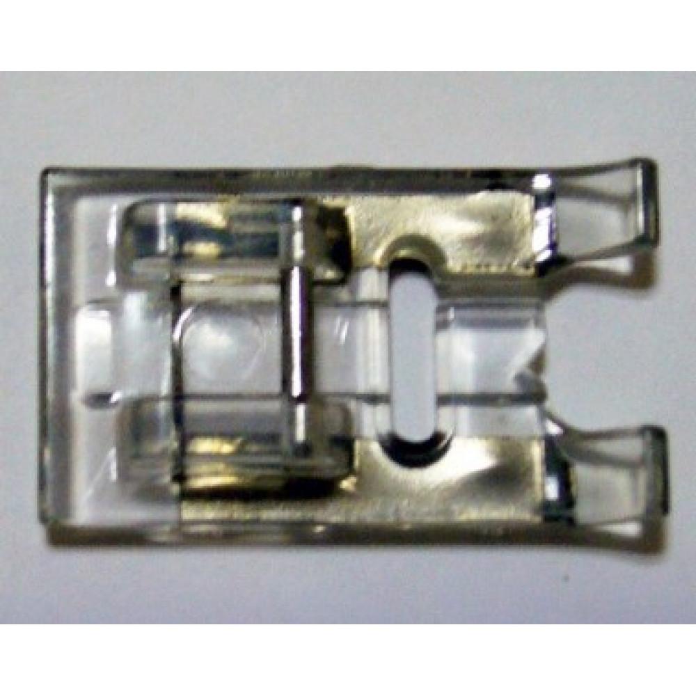 Лапка зигзаг с металлической накладкой для сатиновых строчек