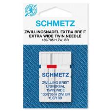 Двойная универсальная игла Schmetz Twin Universal № 100/6,0