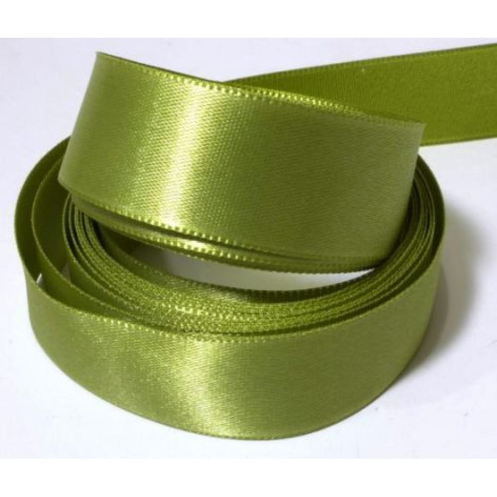 Атласная лента цвет оливковый, 25 мм