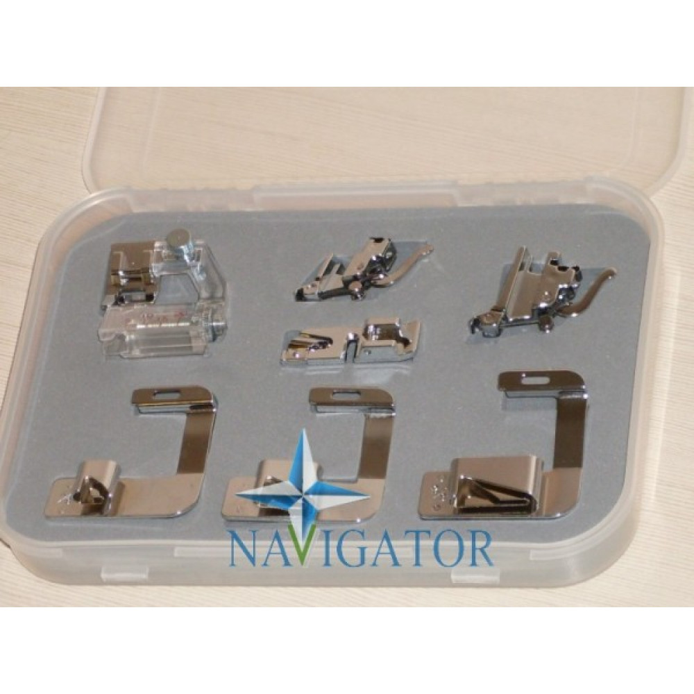 Набор швейных аксессуаров с улитками, окантователем и адаптерами CY-007-001