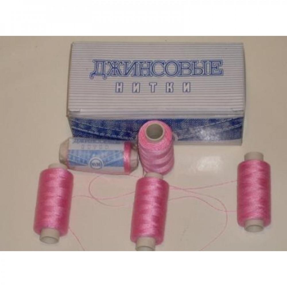 Нить джинсовая цвет светло-розовый, № 156