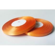 Атласная лента цвет мандариновый, 6 мм