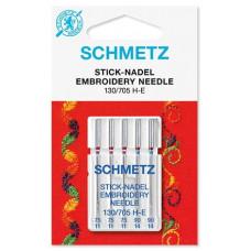 Иглы вышивальные Schmetz Embroidery 130/705 H-E, № 75-90
