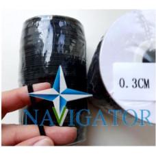 Резинка эластичная чёрная 3 мм на бобине