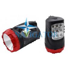 Фонарь переносной аккумуляторный Yajia YJ-2827 3W+9 LED