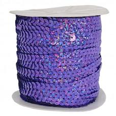 Пайетки на нитке в бобинах голографические, цвет лавандовый
