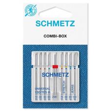 Иглы универсальные Schmetz Сombi-box № 70-100 ассорти