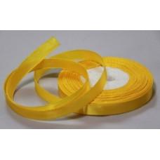 Атласная лента цвет желтый, 10 мм