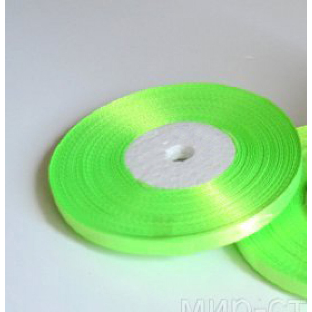 Атласная лента цвет нежно-салатовый, 10 мм