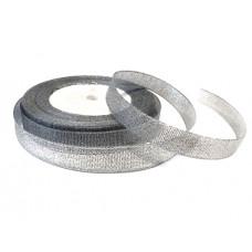 Лента из парчи цвет серебряный, 10 мм