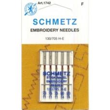 Иглы вышивальные Schmetz Embroidery № 75-90