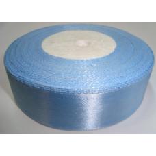 Атласная лента цвет небесно-голубой, 25 мм