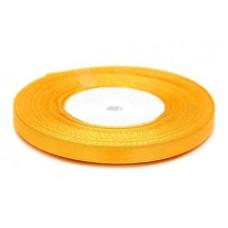 Атласная лента цвет отборный желтый, 6 мм