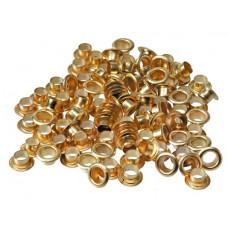 Люверсы 4 мм, золото