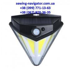 Уличный светильник SN-446 широкоугольный в форме бриллианта на солнечной батарее с датчиком движения