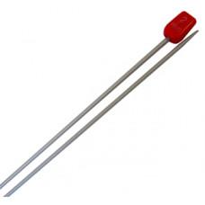 Спицы для вязания прямые металлические 2 мм