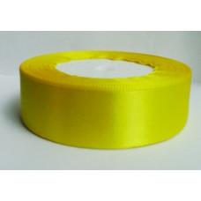 Атласная лента цвет желтый, 25 мм