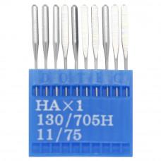 Бытовые швейные иглы Dotec HAx1, 130/705H 11/75 10 шт.