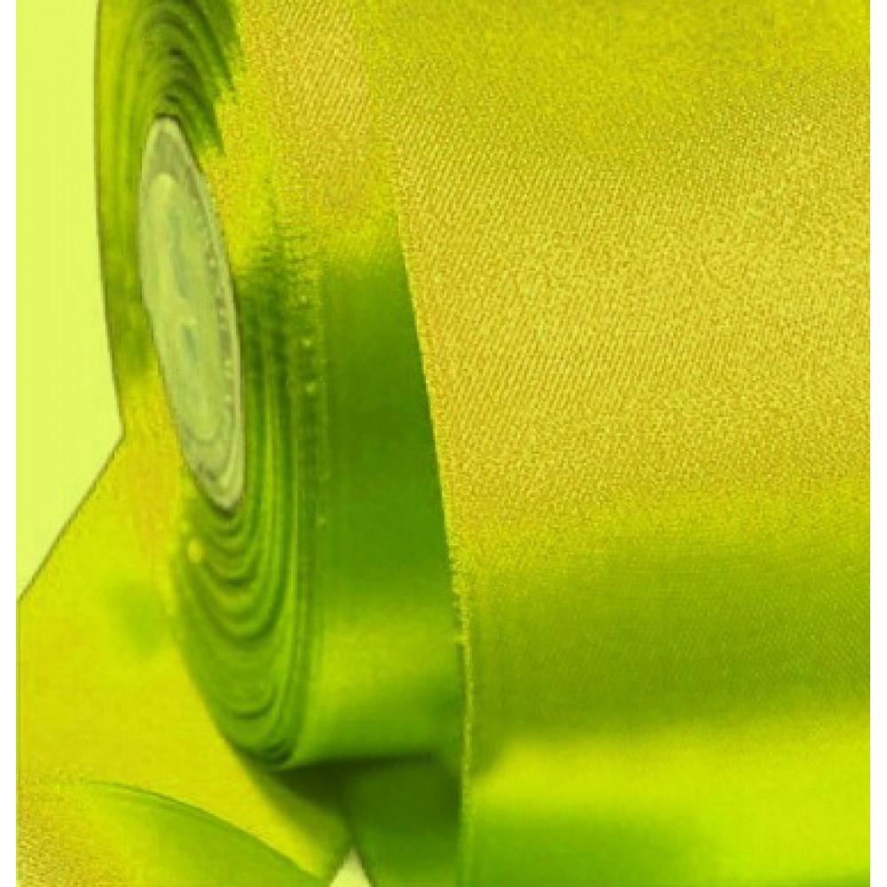 Атласная лента цвет ярко-лимонный, 50 мм