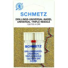 Тройная универсальная игла Schmetz Triple universal 130/705 H DRI № 3,0/80