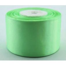 Атласная лента цвет мятно-салатовый, 50 мм