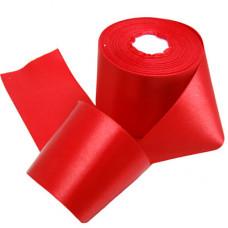 Атласная лента цвет красный, 50 мм