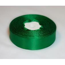 Атласная лента цвет зеленый, 25 мм