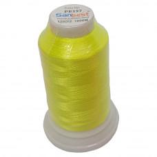 Нить для вышивки PE-197, цвет лимонный неон