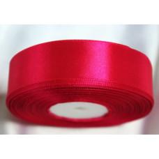 Атласная лента цвет малиновый, 25 мм