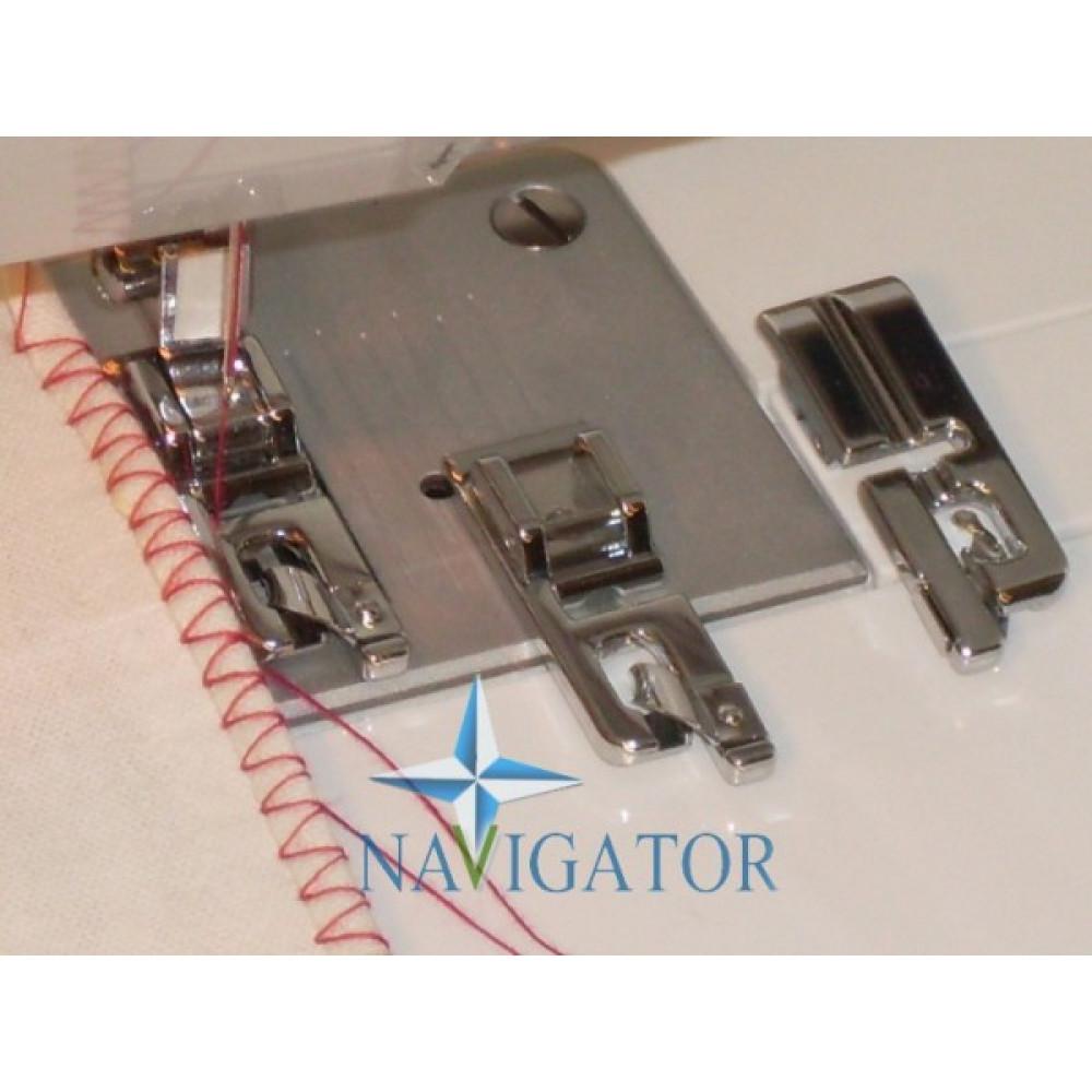 Лапка для ракушечного шва для средних и тяжелых материалов