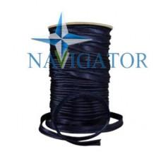 Кант атласный цвет чёрно-синий, чернильный, 10 мм
