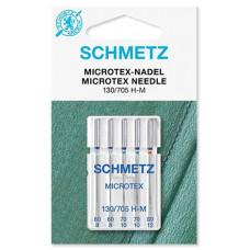 Иглы для микротекстиля Schmetz Microtex № 60-80 ассорти