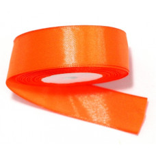 Атласная лента цвет оранжевый, 25 мм