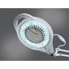 Напольная светодиодная лампа лупа на гибком держателе с 3x кратным увеличением