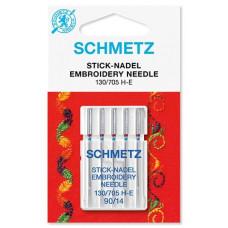 Иглы вышивальные Schmetz Embroidery 130/705 H-E, № 90