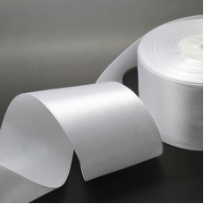 Атласная лента белая, 50 мм