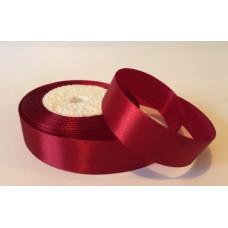 Атласная лента цвет бордовый 25 мм