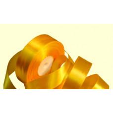 Атласная лента цвет золотисто-желтый, 25 мм