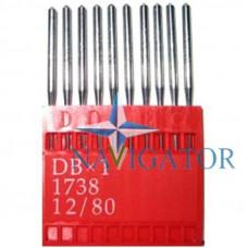Промышленные швейные иглы Dotec DBx1, № 80 для прямострочных машин, 10 шт.